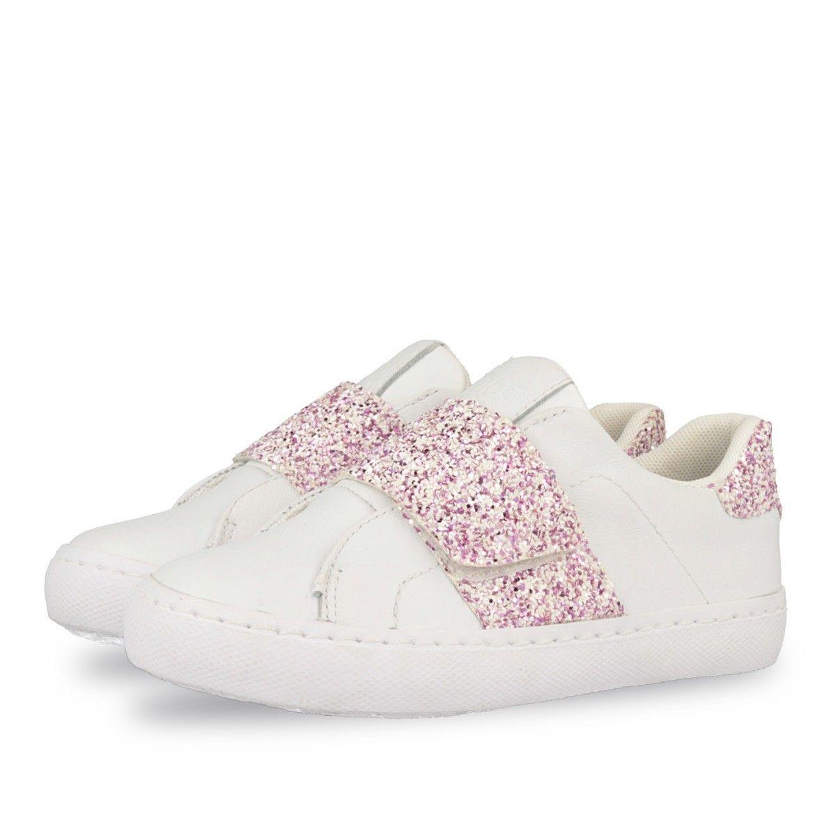Zapatos blancos con velcro Avento infantiles I01I4s