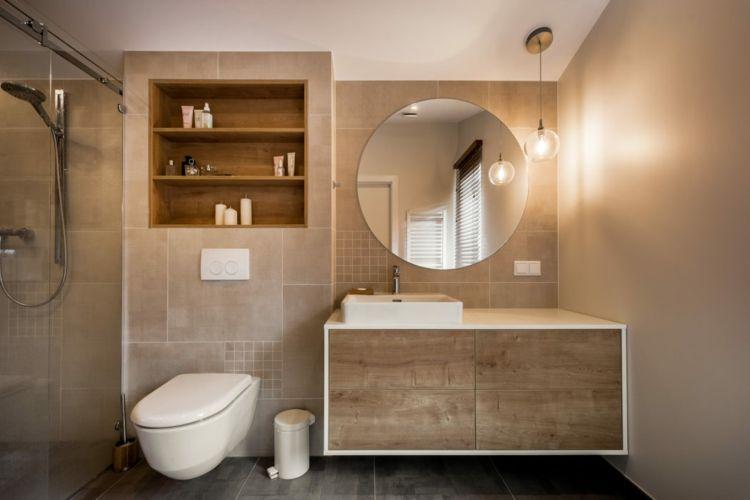 Wunderbar Dusche Bad Fliesen Naturfarben Waschtisch Waschbecken #inneneinrichtung  #interior #design