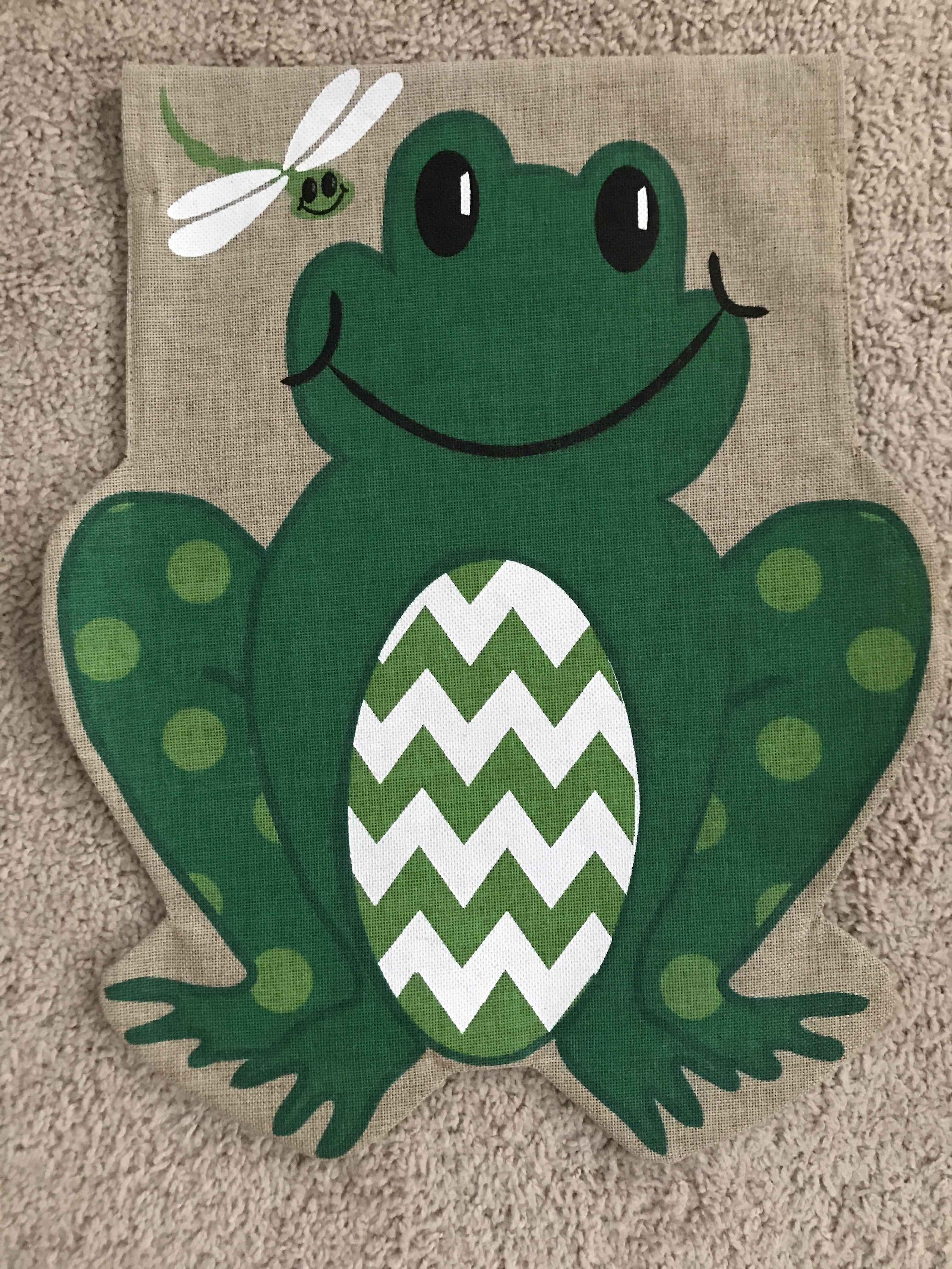 Burlap frog garden flag garden flags kids rugs burlap