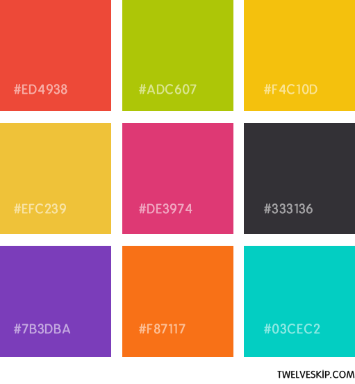 My Favorite Colour Swatches For Flat Design Look Flat