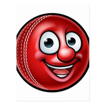 Cricket Ball Mascot Postcard - postcard post card postcards unique diy cyo customize personalize