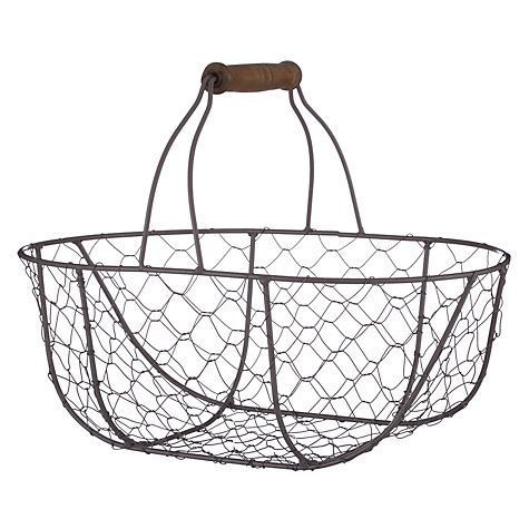 Croft Collection Oval Wire Basket Wire Baskets Wire Egg Basket Basket