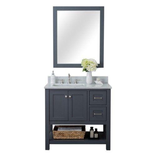 Alya Bath Wilmington 36 in. Single Bathroom Vanity, Grey ...