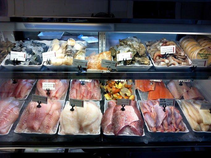 Shelly S Seafood Display Case Pescaderia Pescado Tiendas