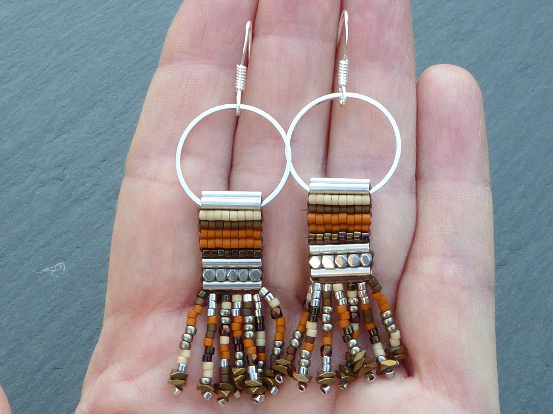 boucles d'oreille ethnique perle