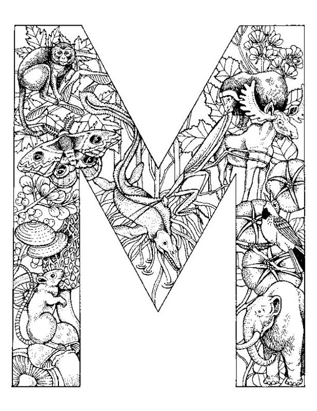 Alphabet Animal Coloring Pages M - Free Printable Coloring Pages ...