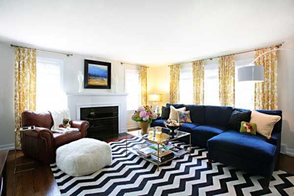 Navy Blue Sofa To Decorating Living Room 1 U2013 Luvne.com U2013 Best Blue Walls