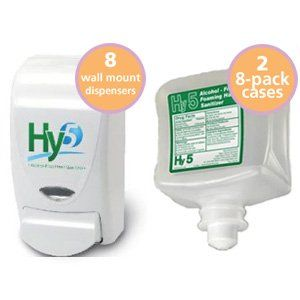 Hy5 Mega Pack For Office Or Schools 8 Wall Mt Dispensers 16