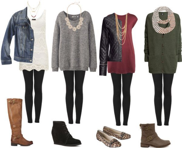 Four different ways to wear the same leggings. Warm ...
