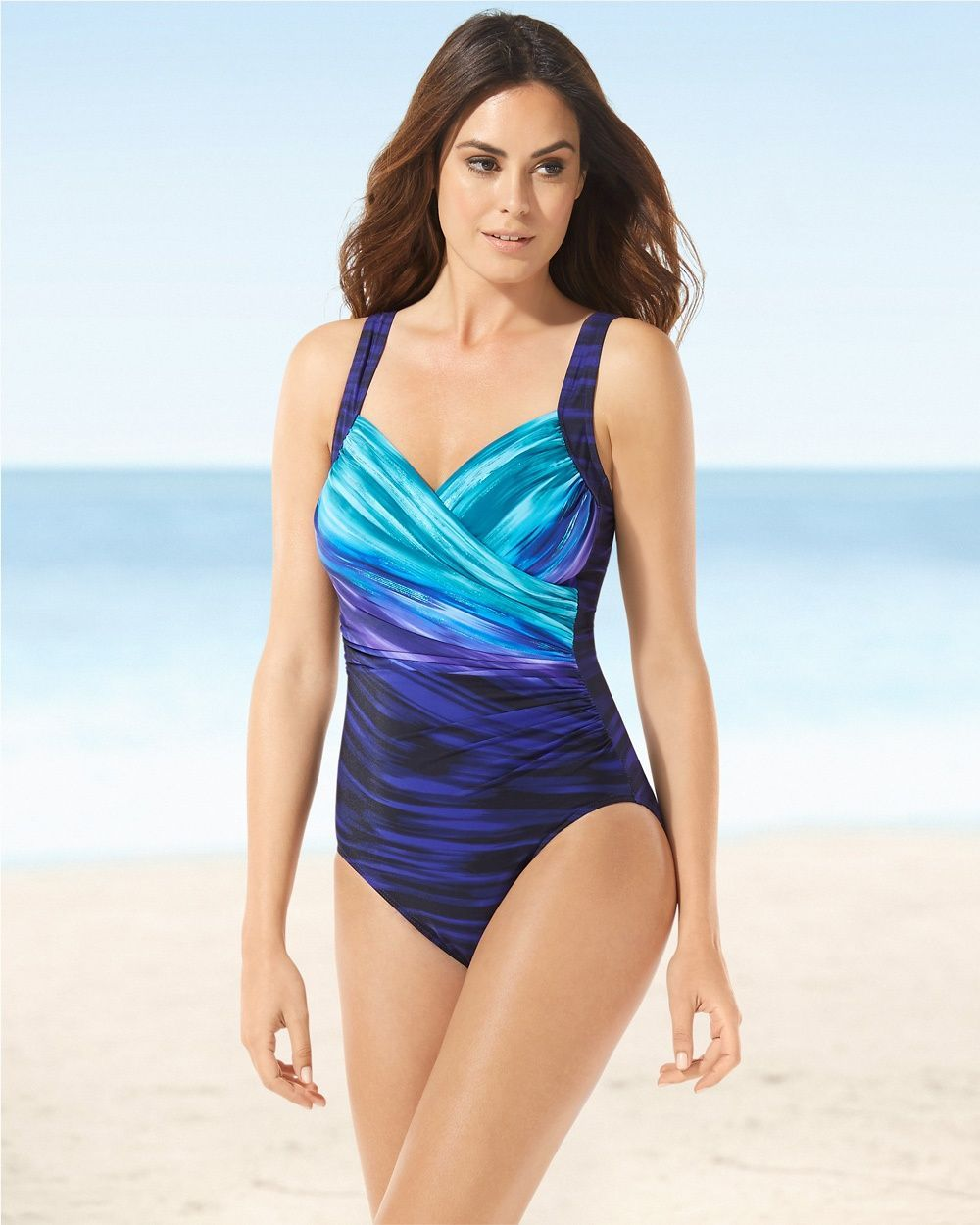 c67fb6fcd22 Soma Miraclesuit Sanibel One Piece Swimsuit, Size: 12, Eggplant ...