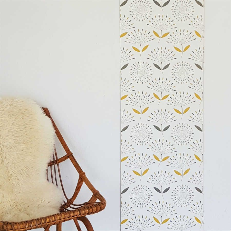 hortensia le l de papier peint intiss jaune moutarde coin salon studio en 2018 pinterest. Black Bedroom Furniture Sets. Home Design Ideas