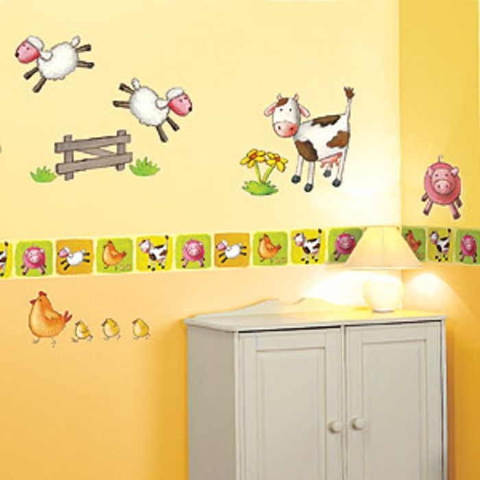 Animal Farm Wallpaper Border