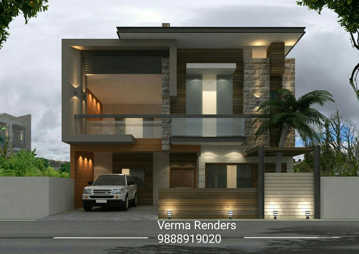 Verma renders ludhiana also kanal dha modern contemporary house design with swimming plool rh pinterest