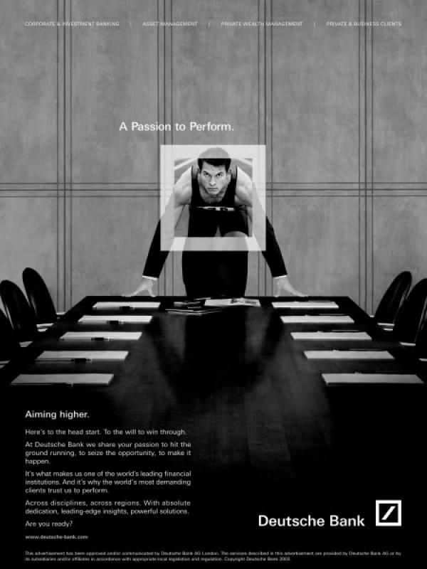 "Financial Services ""SPRINTER"" Print Ad by Team"