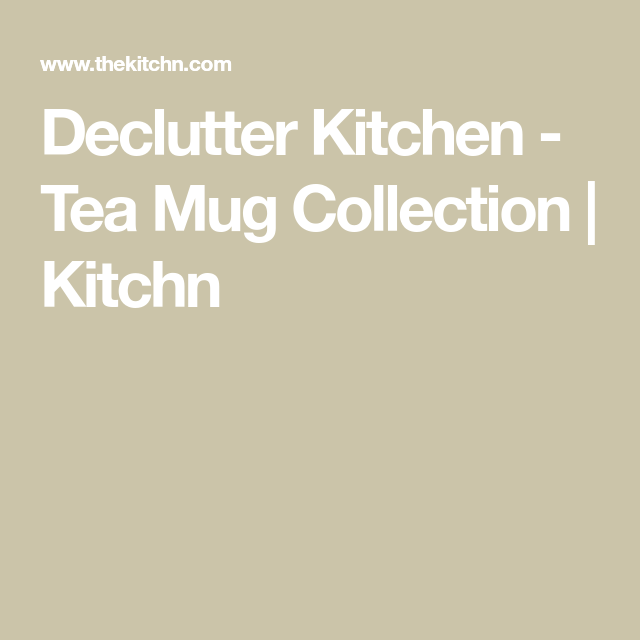 One Small Thing You Can Do This Weekend to Get a Less-Cluttered Kitchen #teamugs