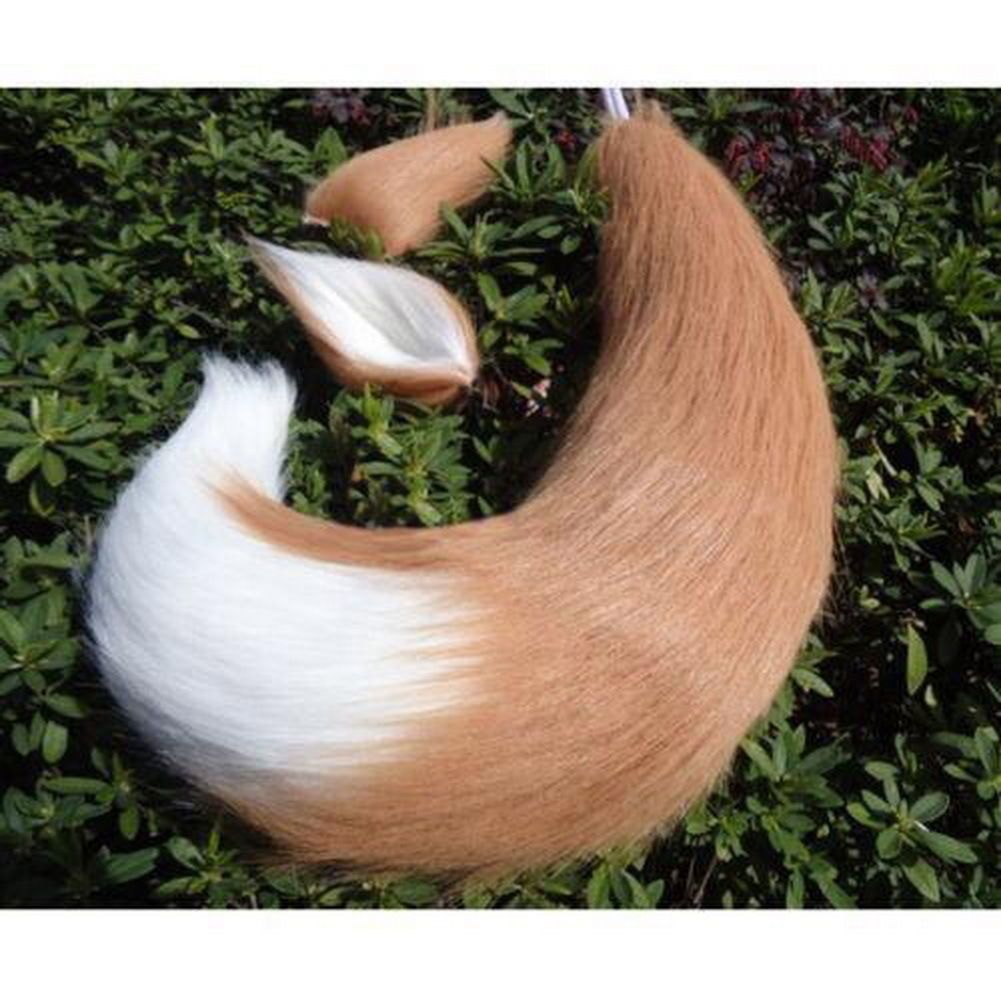 Anime Spice and Wolf Holo Fox Ears Tail Halloween Cosplay Costume Prop Custom