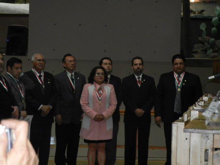 SMGE TIJUANA.- Ceremonia Solemne de Celebración del 50 Aniversario de su Fundación. La nueva mesa directiva 2014-2016.