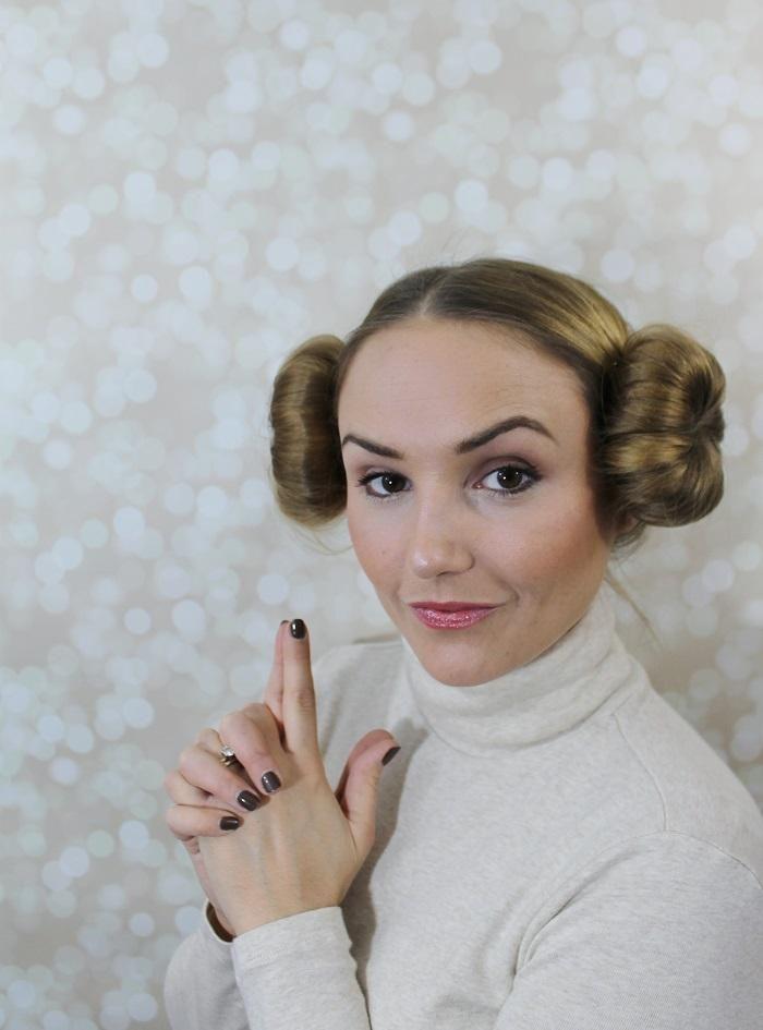 Halloween Hair Tutorial Princess Leia Buns Costume Disfraces