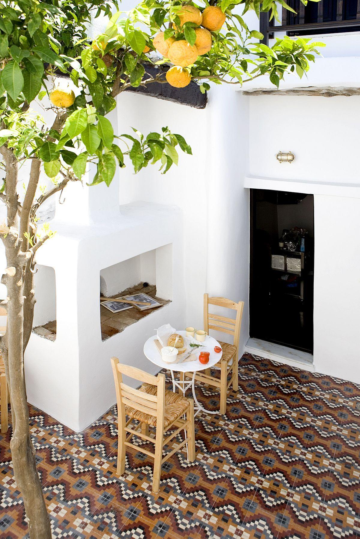 Small Courtyard With Orange Tree | Outdoor Spaces | Pinterest ... Ideen Fur Zimmerpflanzen Winterdepression Bekampfen