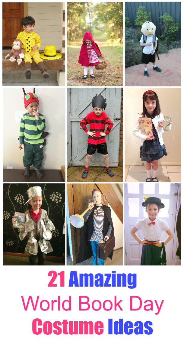 21 Awesome World book Day Costume Ideas for Kids. If you are looking for some  sc 1 st  Pinterest & 21 Awesome World Book Day Costume Ideas for Kids | Favorites ...