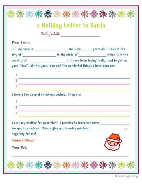 The OCD Life A Holiday Letter to Santa Holly Jolly Christmas - holiday letter
