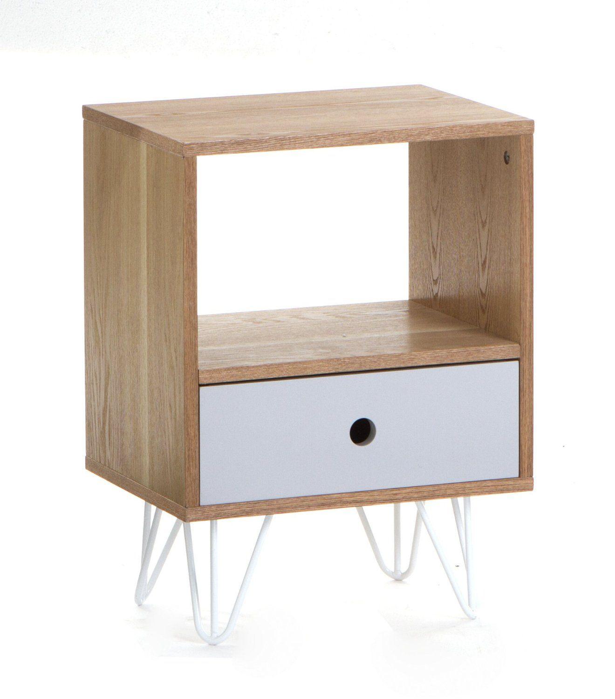 Table De Chevet Amazon table de chevet 1 tiroir - esprit scandinave - coloris gris: amazon
