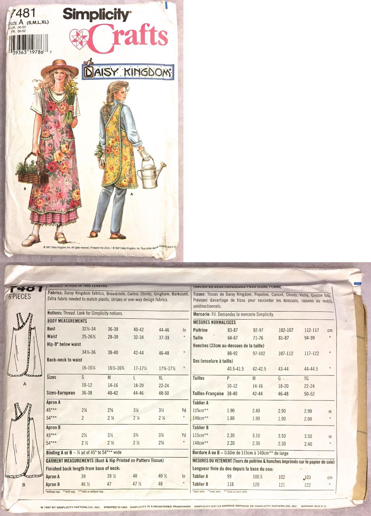 Sewing patterns 28174 apron sewing pattern daisy kingdom plus sewing patterns 28174 apron sewing pattern daisy kingdom plus size smock rare htf simplicity 7481 jeuxipadfo Images