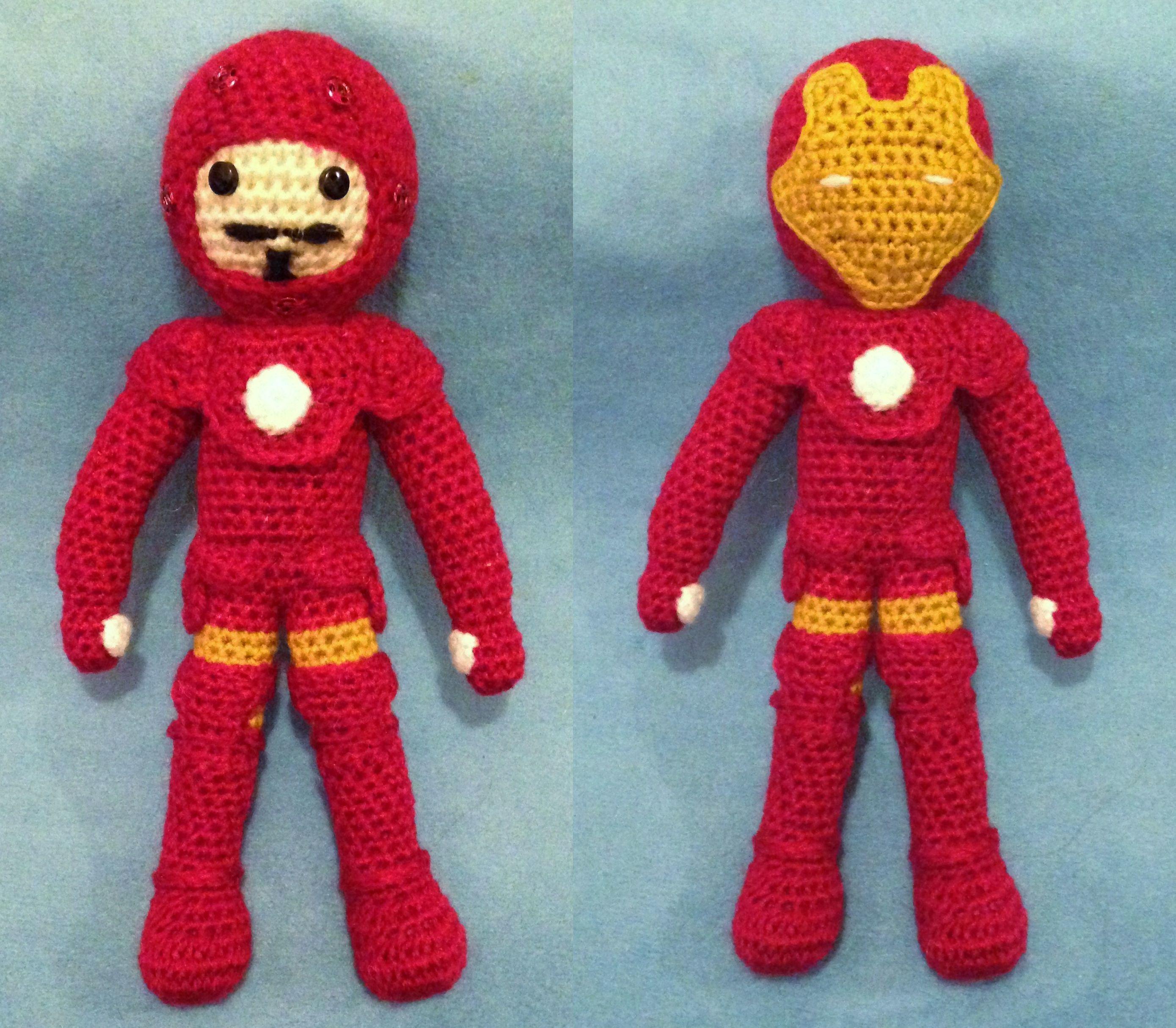 Iron Man amigurumi   Crochet projects, Crochet patterns ...