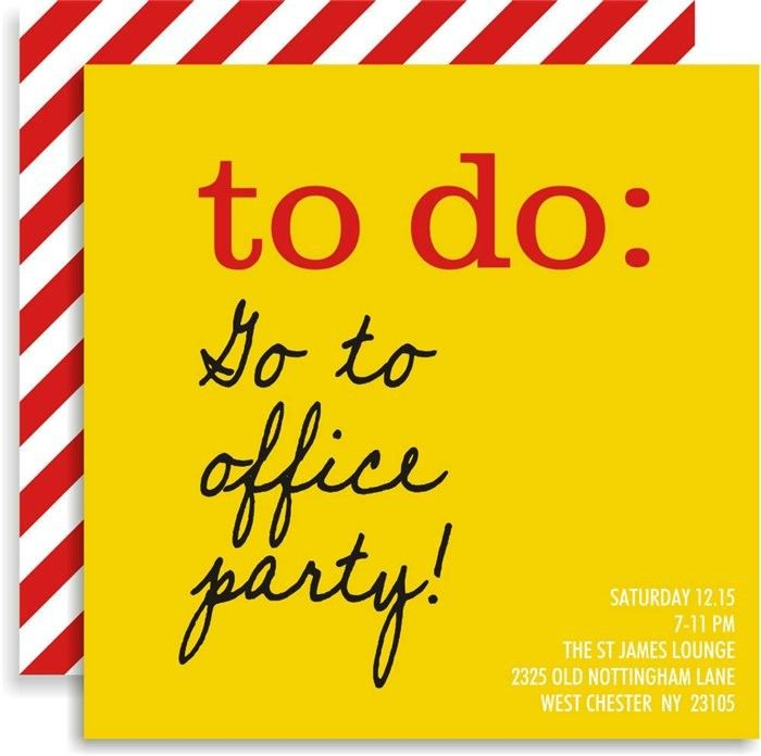 Holiday To Do List Invitations | Holiday party invitations, Party ...
