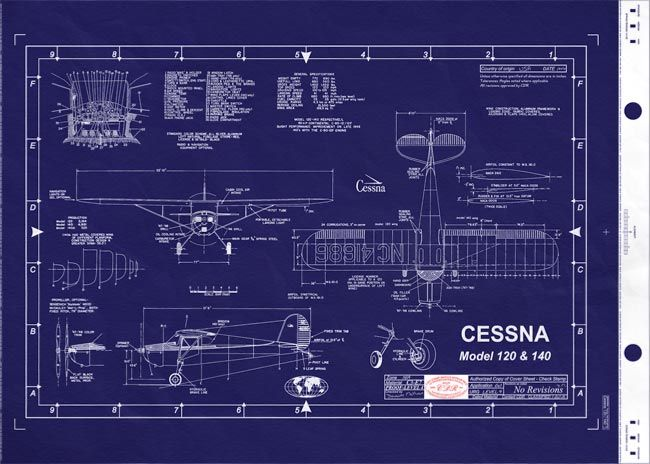 cessna Plane Blueprints Cessna 172 Blueprints cessna 120   140 - copy blueprint meaning in kannada