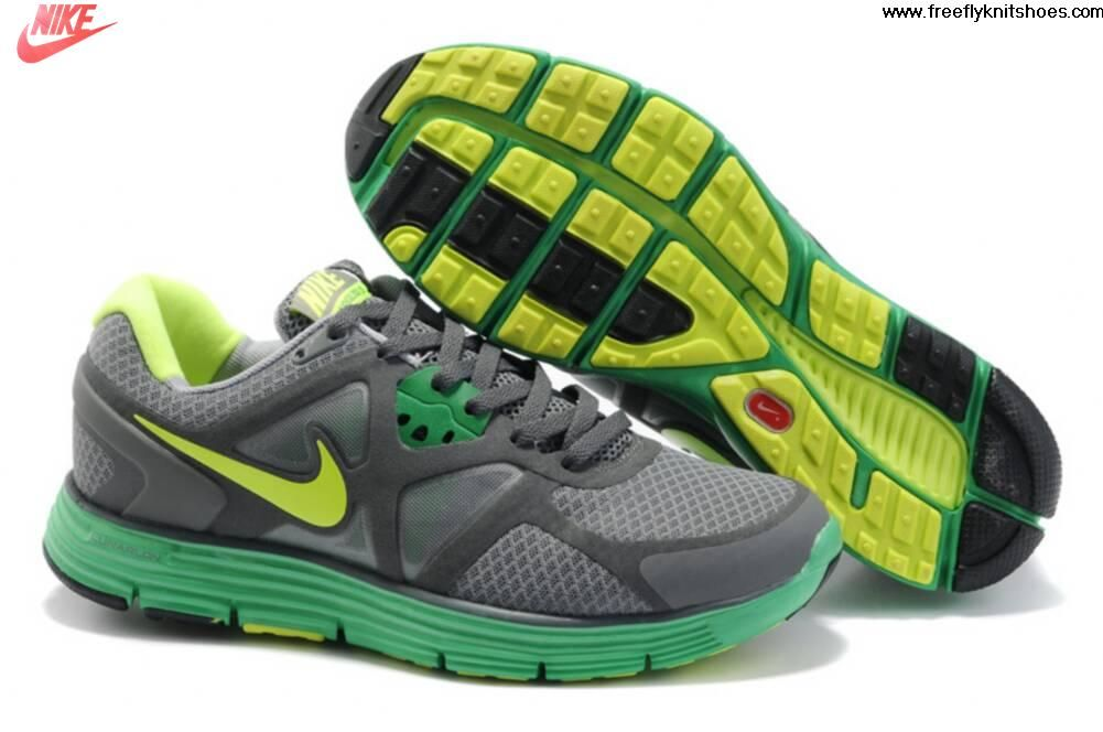 4a7f86a14aef Low Price Mens Nike Lunarglide 3 Gray Green Shoes Shoes Shop