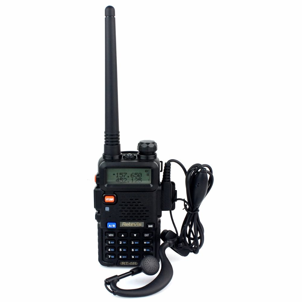 Walkie Talkie Retevis RT 5R 128CH UHF+VHF HF Transceiver DTMF
