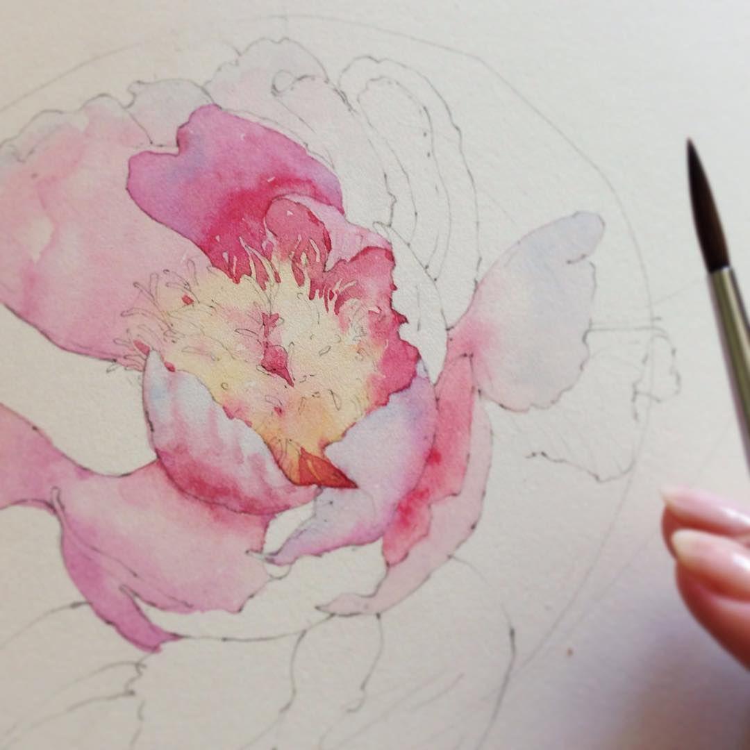 5 321 likes 19 comments katerina pytina kataucha on for Watercolor portrait tutorial