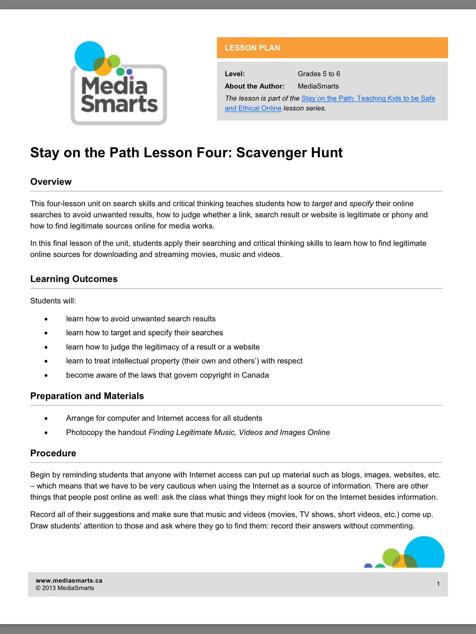Lesson Plan 4 Internet Research