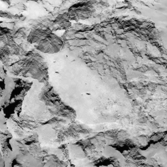 Philae lander candidate landing site A is located on the ...
