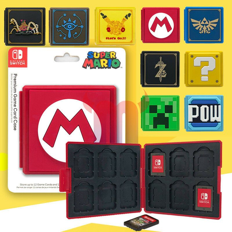 Nintendo Switch Game Card Case Holder Storage Box Travel Carry Protector Cover Minecraft Playing Card Games Nintendo Switch Games Nintendo Switch Accessories