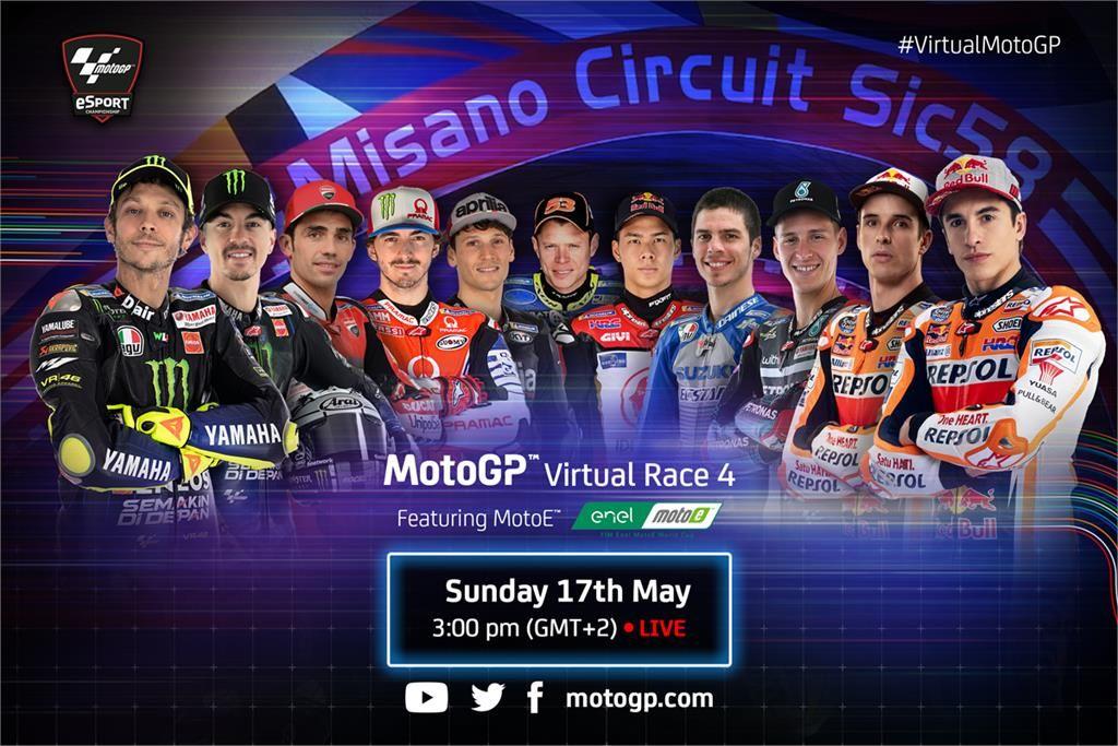 Sim Racing VIRTUAL MotoGP CONTINUES AT MISANO THIS