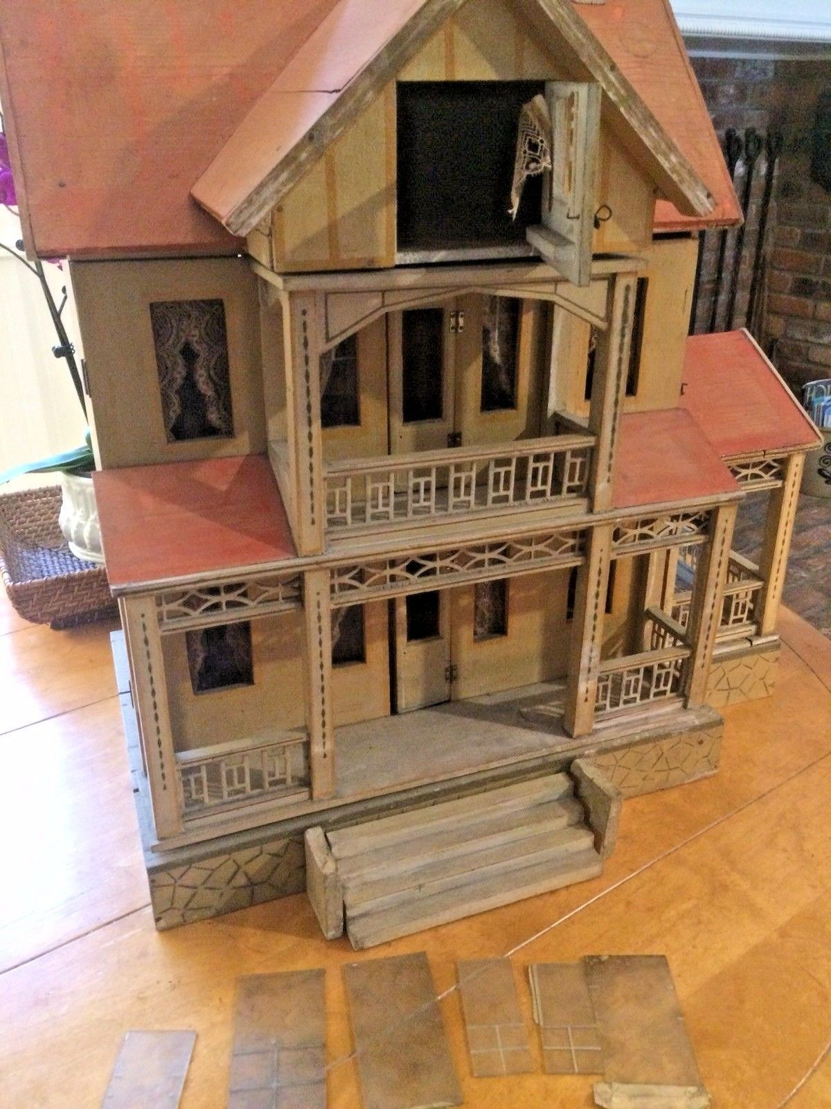 Antique Wood Dollhouse Doll House Made In Germany Gottschalk C1912