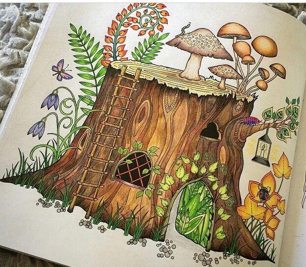 Tree Trunk Enchanted Forest Tronco Floresta Encantada Johanna Basford