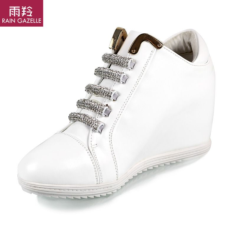 2014 spring marant style women wedge sneakers shoes leather platform casual boot free pu lace-up height increasing shipping new $42.90