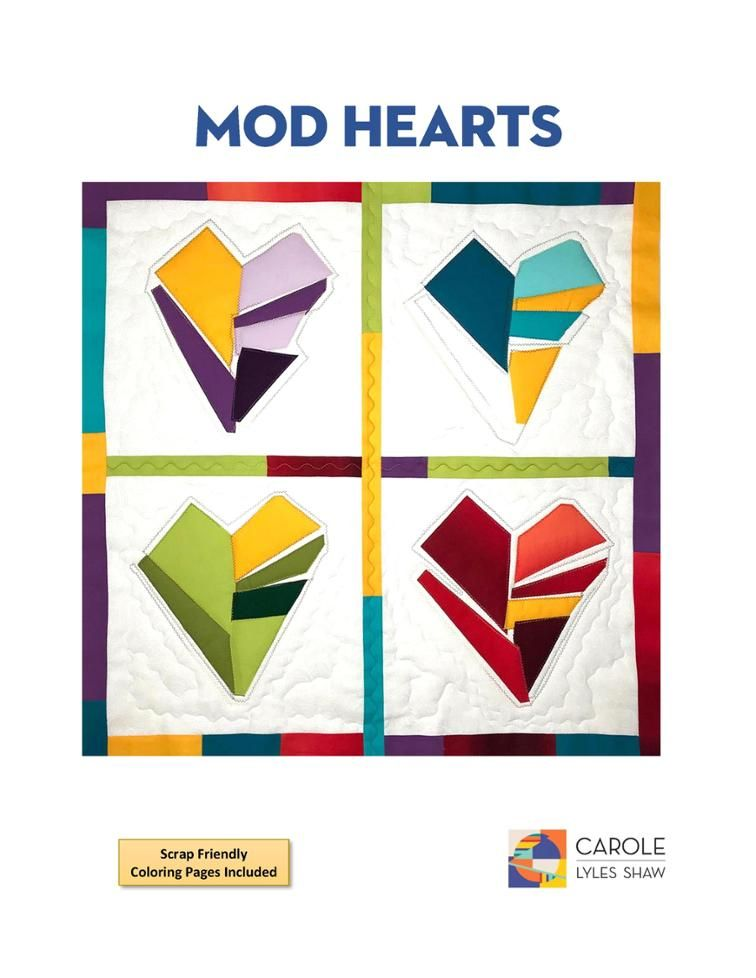 Mod Hearts #1 | Craftsy | valentines, St Pats, Easter Nails & art ...