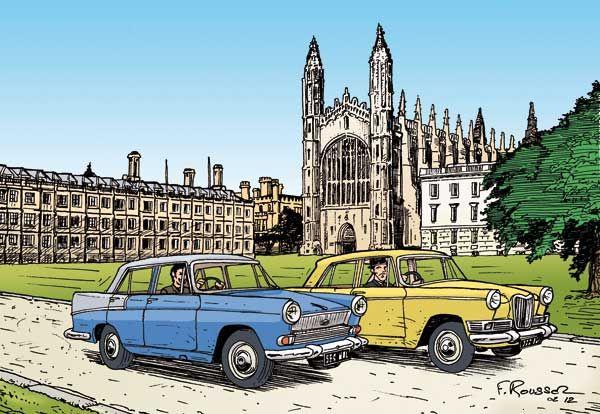 Austin A60 Cambridge 1961 Y Riley 4 Dessin Voiture Voitures Retro Voiture