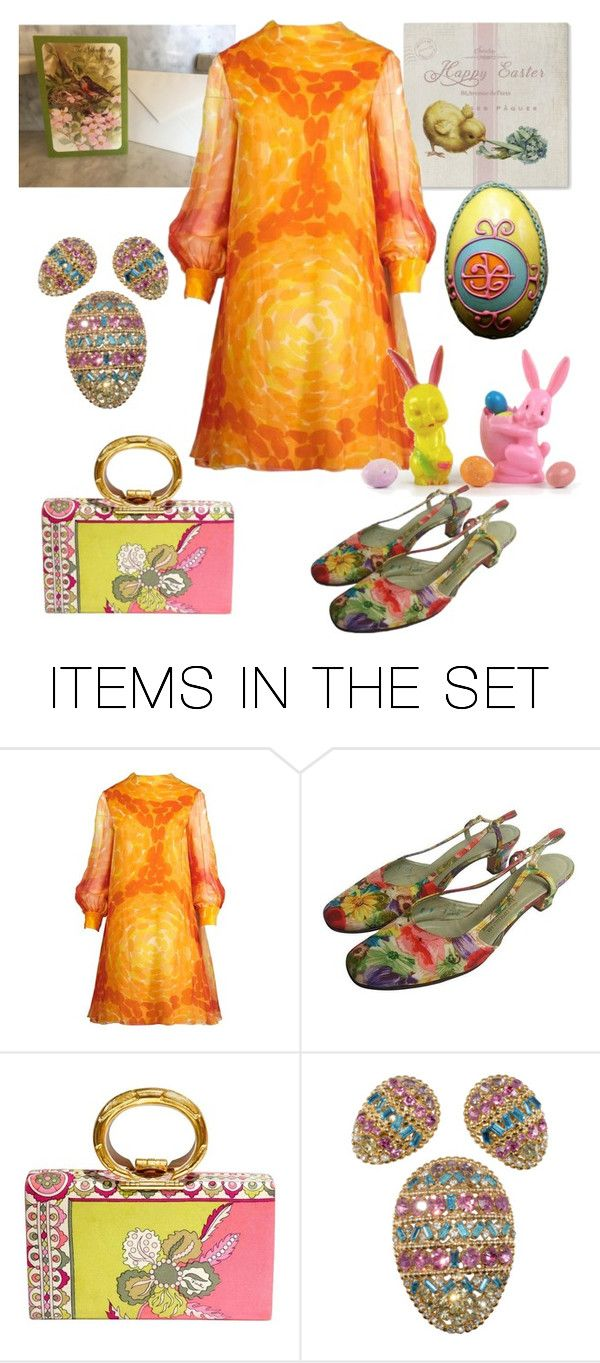"""""""Happy 1960s Easter!!"""" by alexxa-b ❤ liked on Polyvore featuring art, vintage, happy and 1960s"""