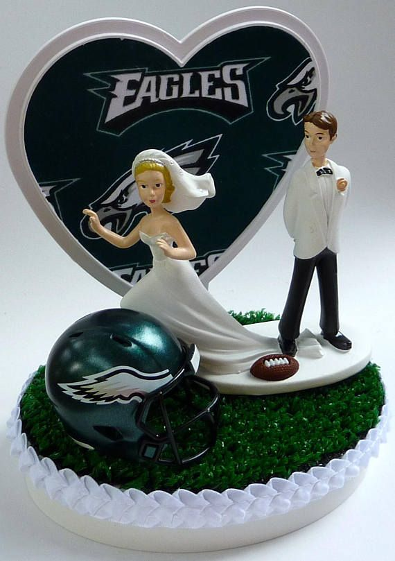 Wedding Cake Topper Philadelphia Eagles Football Themed Runaway