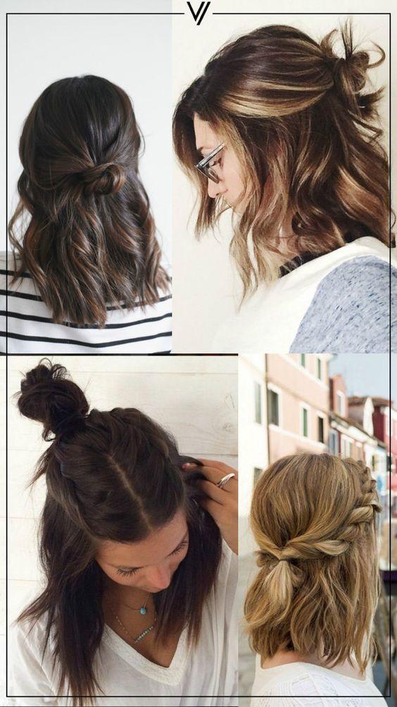 Las Mejores Ideas De Peinados Y Las Tendencias Para Cada Ocasion - Peinados-semirecogidos-pelo-corto