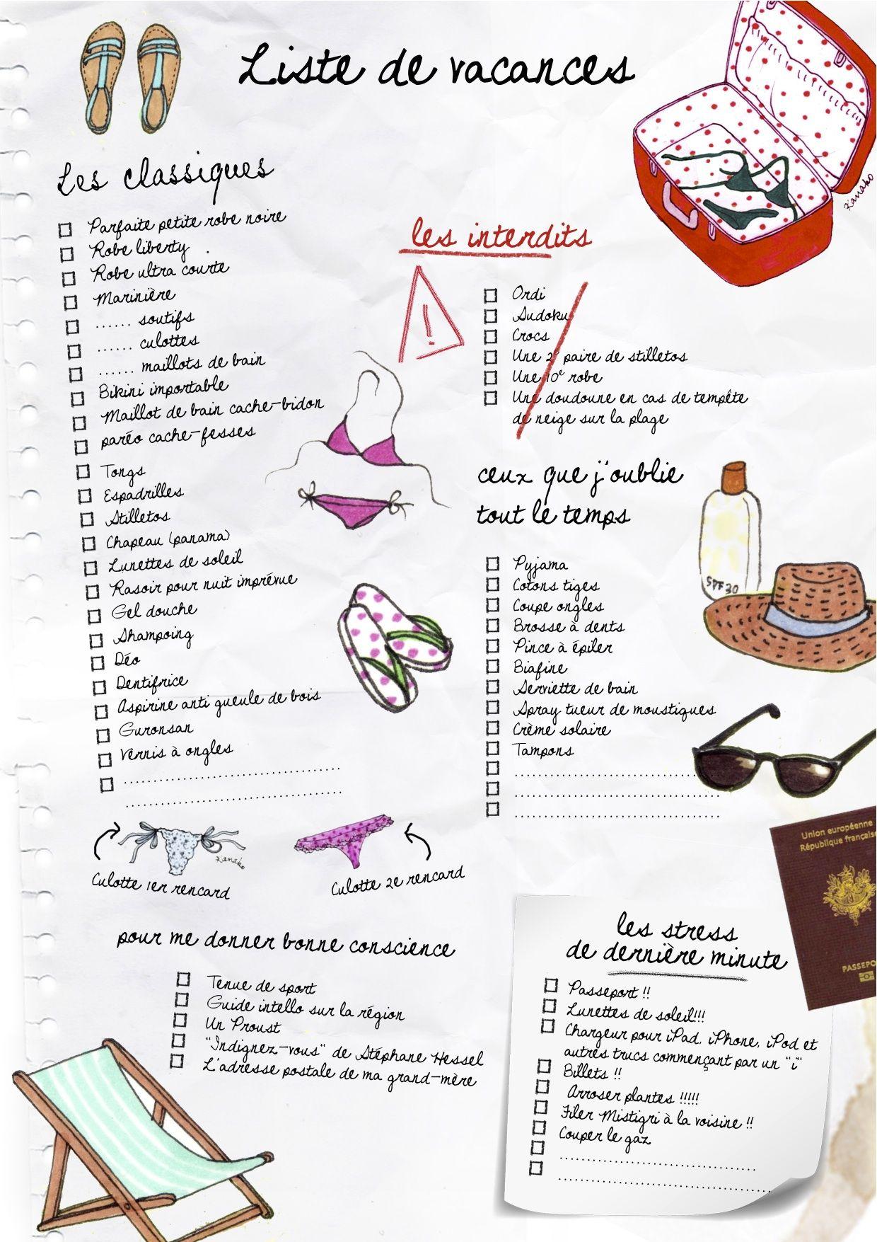 Tics en fle faire une liste de vacances - Nom de journal espagnol ...