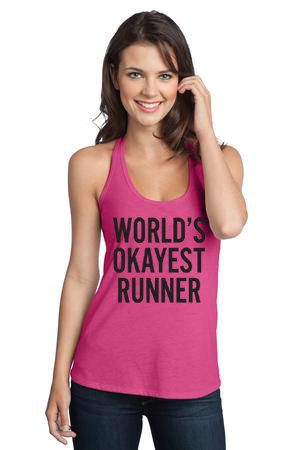 Running Tank. World's Okayest Runner T-Back Workout by WorkItWear