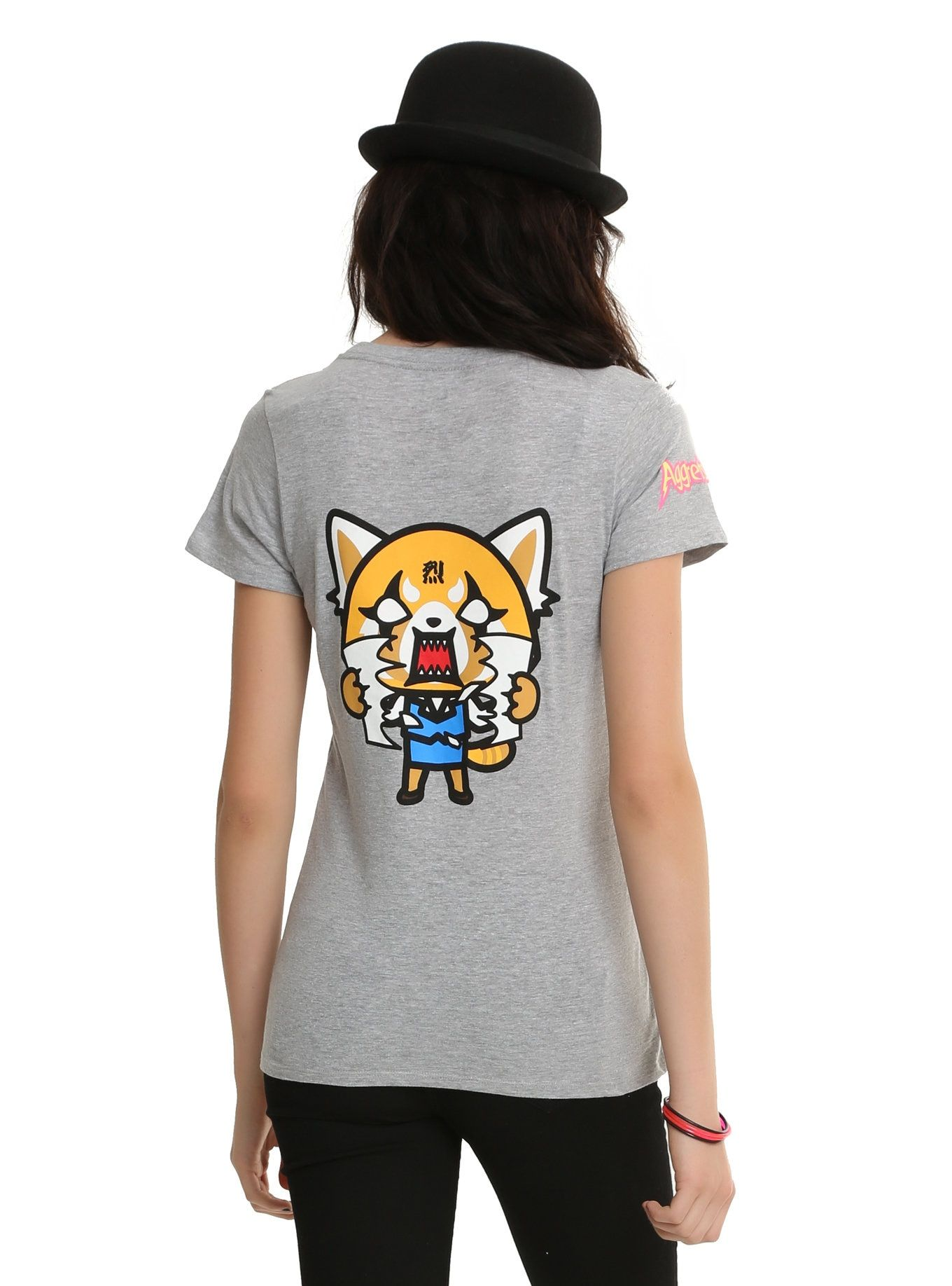 8afa17d3 Aggretsuko Front & Back Girls T-Shirt I've shown this Retsuko shirt  earlier, but this is the back of it. #aggretsuko #restsuko #shirts #ad