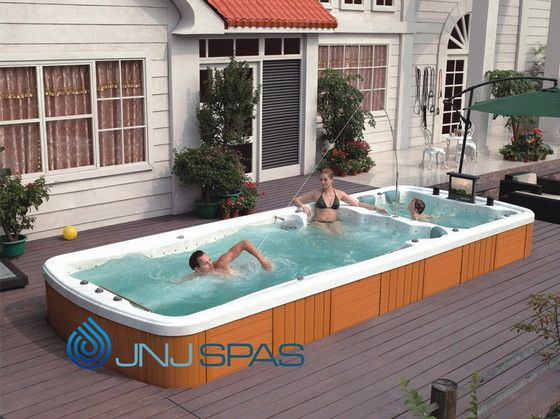 Swim spa decks google search deck pinterest spa for Swimming pool spa designs