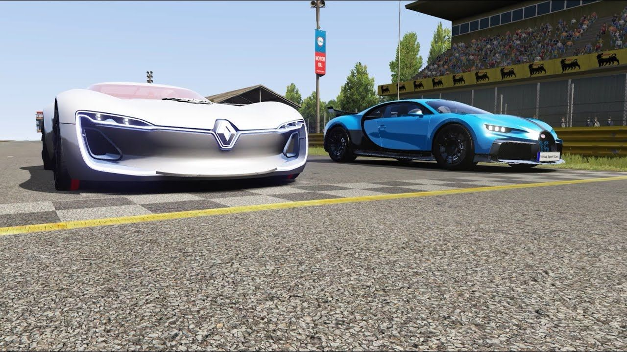 Renault Trezor vs Bugatti Chiron Pur Sport at Monza Full Course